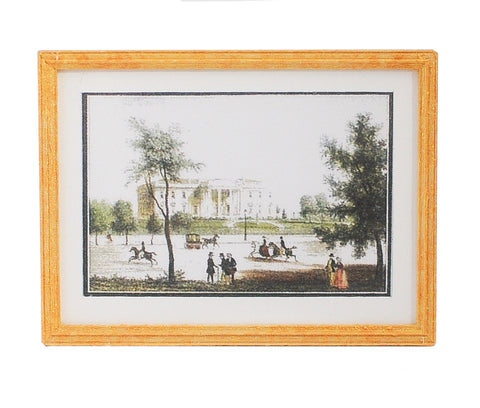 Print, Matted and Framed, Historic Whitehouse Pastoral