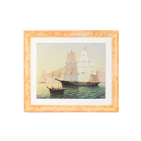 Framed Print with Tall Ships