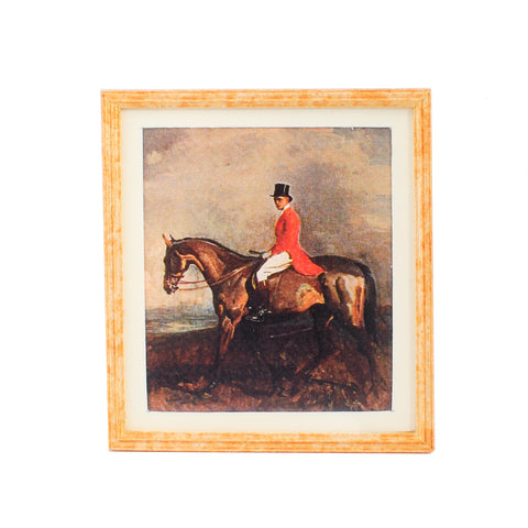 Print, Framed and Matted,  Hunt Scene