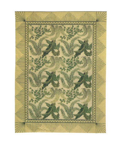 Area Rug With Ferns, Style 228