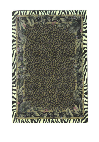 Jungle Print Area Rug