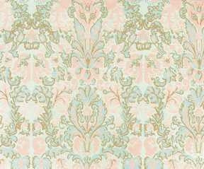 Bonjour Wallpaper, Seafoam and Pink