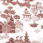 China Grove Burgandy Wallpaper