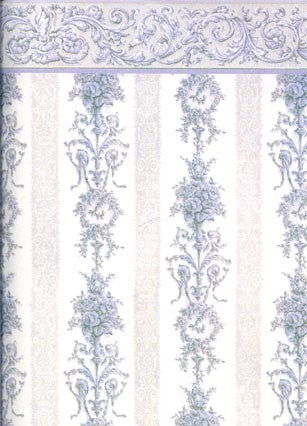 Blue Symphony Stripe Wallpaper