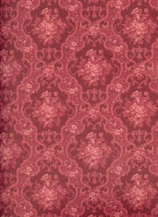 English Rose Burgandy Wallpaper