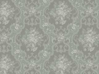 English Rose Wallpaper, Seafoam