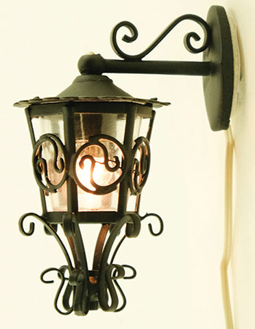 Ornate Carriage Lamp, Downward Hanging
