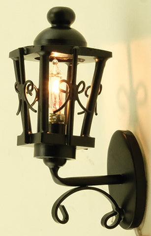 Ornate Coach Lamp, Black