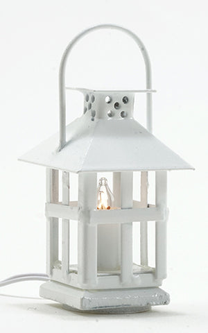 Lantern, White Finish, 12 Volt