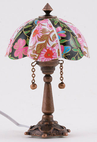 Floral Tiffany Table Lamp, Electrified