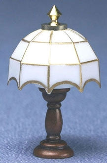 Tiffany Table Lamp, White Shade