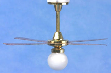 Ceiling Fan with White Globe