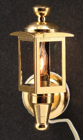 Pair of Brass Coach Lamps, 12 Volt