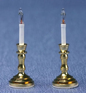 Candlesticks, Electrified, Pair by Miniature House