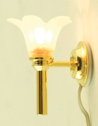 Frosted Tulip Sconce