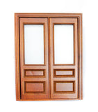 Windsor Double Door With Glass Panels