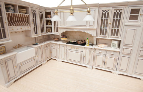 Copy of Cambridge Manor Kitchen Set, White Wash Finish