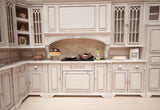 Cambridge Manor Kitchen Set, White Wash Finish
