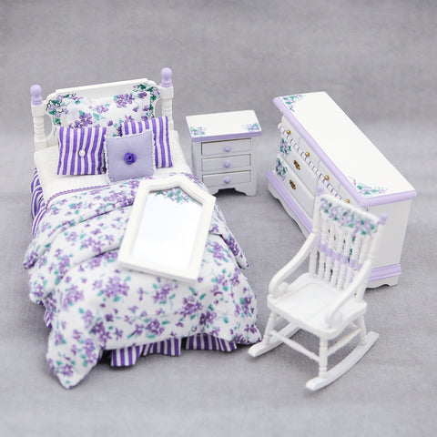 Twin Bedroom Set, Lavender
