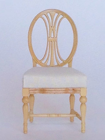 Dianna Gustavian Chair, Natural Finish