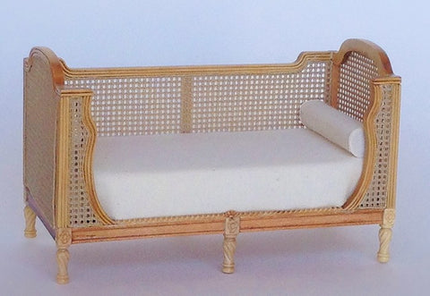 Fauna Cane Daybed, Natural Finish