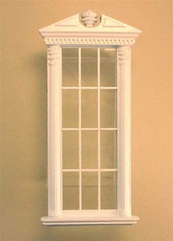 Corinthian Carved Single Window White ON SPECIAL