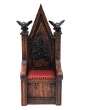 Tudor Chair with Gargoyles, Red Leather