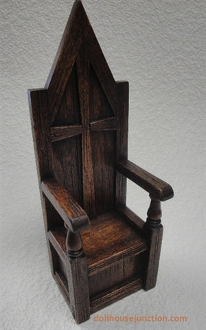 Gothic Tall Cross Chair by Michael Mortimer