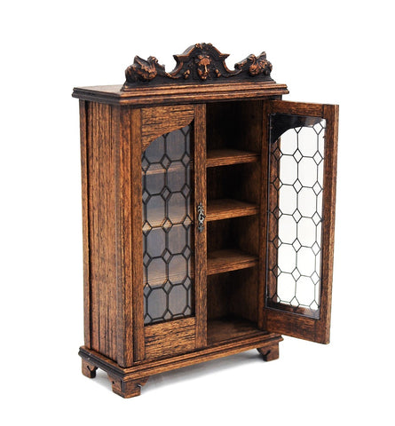 Cupboard with Leaded Glass Doors