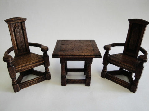 Michael Mortimer Square Refectory Table and Scottish Chairs