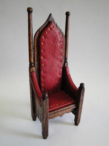 Michael Mortimer Leather Gothic Chair
