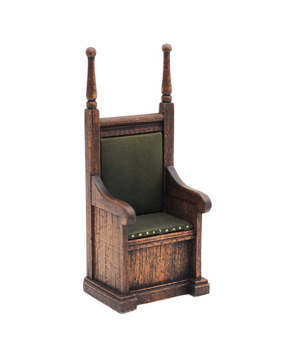 Knights Chair, Green Leather