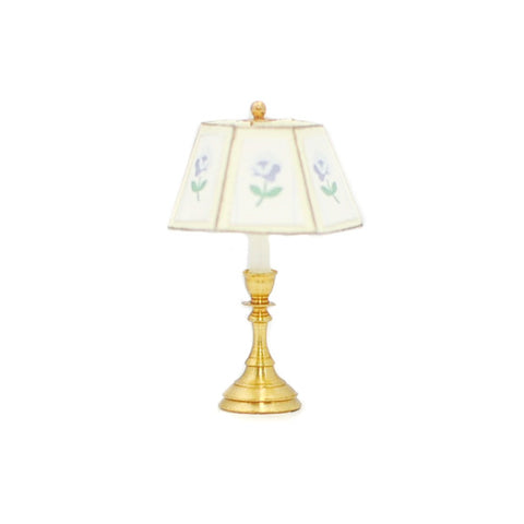 Table Lamp Blue Rose Shade