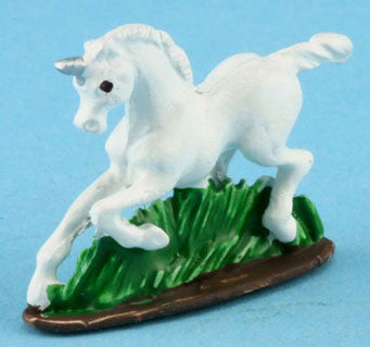 Unicorn Figurine, Hand Painted