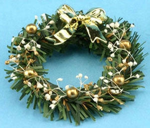 Wreath with Gold Bows