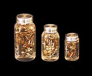 Nuts and Bolts, Set of Three Jars