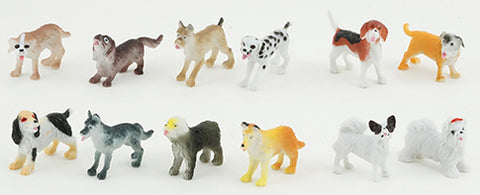 Assorted Dogs, 12 Piece Set