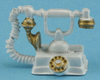 French Phone, White and Gold