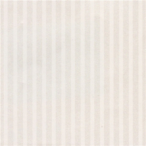 White on White Stripe Prepasted Wallpaper