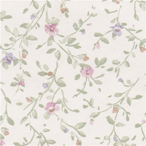 Trailing Flowers Prepasted Wallpaper