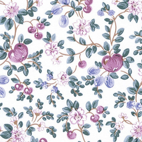 Hand Painted Apples Prepasted Wallpaper