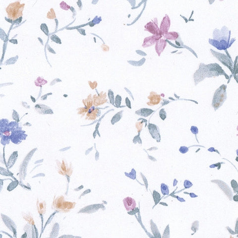 Pink and Blue All Over Prepasted Wallpaper