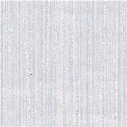 Blue and White Silky Stripe Prepasted Wallpaper DISCONTINUED