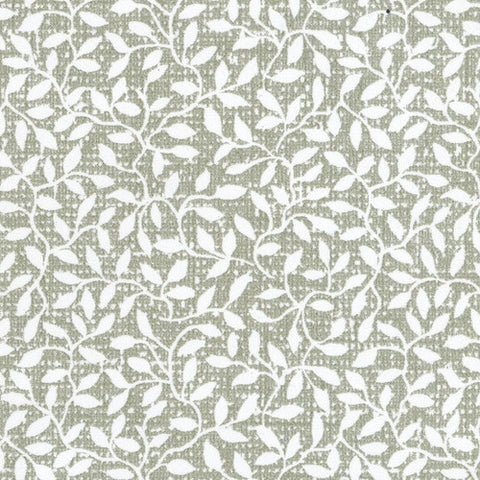 White and Green Mini Leaf Prepasted Wallpaper