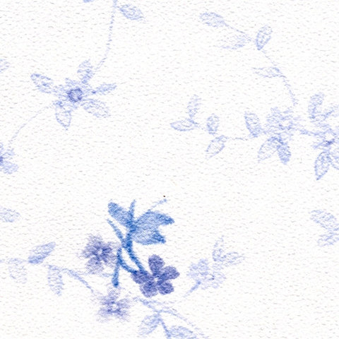 Blue Flowers and Vines Prepasted Wallpaper