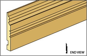 Baseboard Molding with Detail
