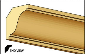 Crown Molding, 1/2 inch