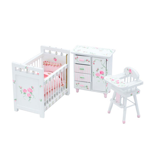 Nursery Set, Pink Roses On Sale!