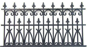 Fence, Black Iron (Plastic)