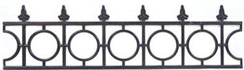 Widows Walk Railing, Black,  Two Pieces